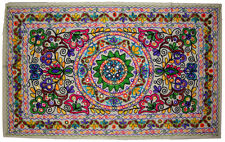 ETHNIC INDIAN HAND MADE WOOL EMBROIDER WALL HANGING HOME DECORATION KASHMIR ART