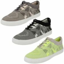 Ladies Clarks Lace Up Knitted Sports Trainers Shoes Glove Glitter