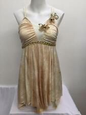 Dance Costume L Child XL Adult Lyrical Ivory Tan Gold Ballet TRIO Competition