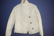 Gap Womens Down Feathers Puffer Jacket Coat White Winter Snaps Pockets XS L