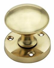 Ironmongery World Solid Brass Victorian Round Mortice Door Knobs Pull Handles...