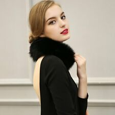 Elegant Faux Fox Fur Collar Women's Scarf Shawl Stole Wrap Furry Neck Circles