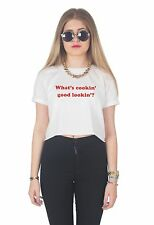 What's Cookin' Good Lookin'? Crop Top Shirt Grunge Tumblr Fashion Slogan Retro