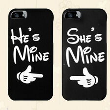 Couple Phone Case , He's Mine & She's Mine Print Black Cover For Smart Phone
