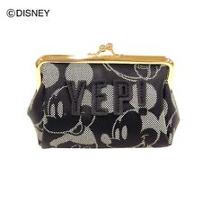 DISNEY Mickey Print Cosmetic Makeup Pouch Clutch Bag Coin Purse from Japan E1747