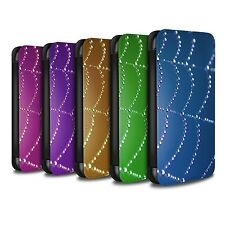 STUFF4 PU Leather Case/Cover/Wallet for Apple iPhone 4/4S/Spider Web Pearls