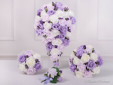 Lilac & Lavender Wedding Flowers, Bridal Bouquet, Bridesmaids, Flower Girl Posy