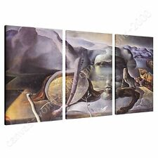 CANVAS +GIFT The Endless Enigma Salvador Dali 3 Panels Paints Poster Pictures