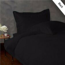 Black Solid 1200TC Egyptian Cotton All AU SIZES Bedding Items!!Fitted/Flat/Doona