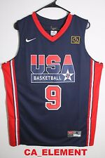 "Nike NBA USA Basketball 1992 Dream Team Michael Jordan ""9"" Blue Swingman Jersey"