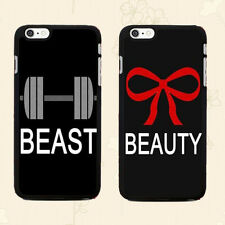 Romantic Couple Phone Case, Beast & Beauty Print BLACK COVER for Smart Phone