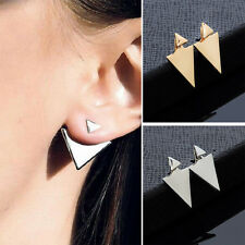 Unique New 1Pair  Women Gold/Silver Plated Asymmetric Triangle Earrings Ear Stud