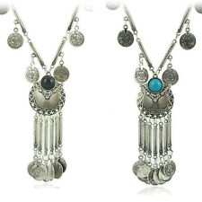 Vintage Coin Long Pendant Necklace Chain Gypsy Tribal Ethnic Jewelry Top New