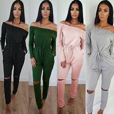 Sexy Womens Long Sleeve Playsuit Bodycon Party Jumpsuit Romper Trousers Clubwear