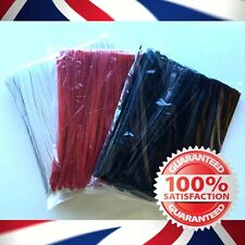 Plastic Coated Wire ties, twist ties 1000pcs 150mm & 100mm Red & White - FREE PP