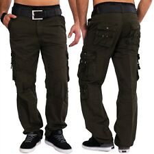 Mens Cargo Pants Funcional Loose Fit 100% cotton work trousers cargo pants