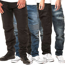 Mens 883 Police Regular Fit Jeans Dark Wash Designer Stylish Denim Pant Trousers