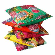 India kantha Throw Cushion Cover Home Decor Pillow Cases Floral Print Decorative