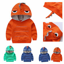 Dinosaur Hoodie Fleece Sweatshirt Baby Toddler Boy Autumn Outfit Clothes Tops