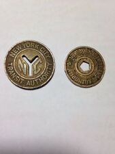 NEW YORK CITY Transit Authority Vintage Tokens Lot of 2 EXCELLENT CONDITION
