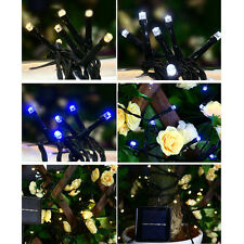 100 LED Solar Powered Fairy String Xmas Tree Party Lights Outdoor Garden