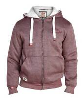 BIG & TALL BURGUNDY RED THICK WARM FLEECE LINED HOODY HOODED TOP JACKET COAT