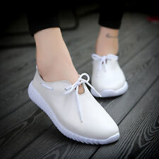 Women Casual Flat Genuine Leather Slip on Loafers Moccasin Boat Oxfords Shoes