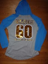 VICTORIAS SECRET PINK NFL BLING SANDEIGO CHARGERS OVERSIZE LIGTWEIGHT HOODIE NWT