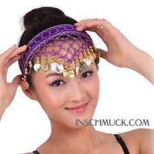 C130 Belly dance Headband with golden Coins Hair Head Band Headdress