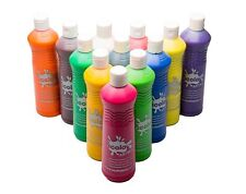 Ready Mix Coloured Washable Kids Paint Childrens Colour Paints Squeezy Bottles