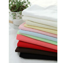 """Cotton Double Gauze Fabric Muslin Baby by the Yard Korean wide 43""""- Solid"""