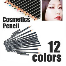 Professional 12 Color Eye Shadow Eyeliner Lip Liner Pencil Cosmetic Makeup Pen