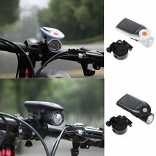 Solar Rechargeable 4 LED Headlamp Headlight Sport Bike Bicycle Front Light Lamp