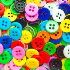 10MM COLOURFUL FOUR HOLE BUTTONS ACRYLIC BABY BUTTON CHILDREN RETRO CHILD