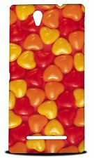 CANDY HEART JELLY BEAN HARD CASE COVER FOR SONY XPERIA C3