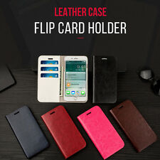 Musubo New Genuine Leather Card Hold Flip Wallet Case Cover for iPhone Samsung