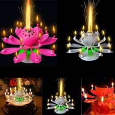 Romantic Musical Lotus Flower Happy Birthday Candle Music Candle Party Decor 1x