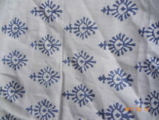 BLUE print 100% cotton fabric hand block print fabric Home Decor By The Yards