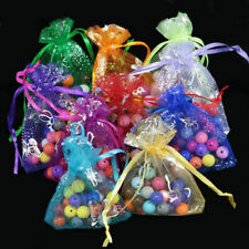 50x Butterfly Organza Wedding Party Favor Decor Gift Candy Bag Jewellery Pouches