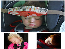 Baby Car Seat Headrest Kids pillow Support Sleeping Travel Pad Strap Belt Child