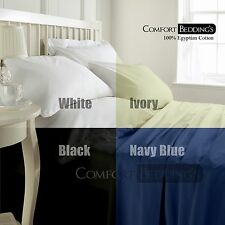 800-1000-1200TC Super  15Color US Bedding Set 100%Cotton Fitted Sheet Solid