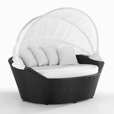 DAY BED WICKER PATIO FURNITURE DAYBED SYLT PATIO OUTDOOR CANOPY COVERED