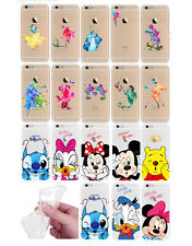 iPhone 6 6S Silicon Soft  Transparent Thin Clear Cover Case Disney Watercolour