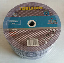 """230mm 9"""" Stainless Steel Cut Off Angle Grinder Discs Blades Inox Inch Cutting"""