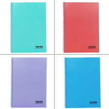 College Spiral Bound Maths Notebook Quadrille Rule Study Book Memo Diary