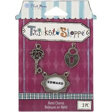 Blue Moon Trinket Shoppe Metal Charms 3/Pkg. Delivery is Free