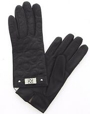 Coach Authentic Womens Leather/Cashmere Engraved Winter Gloves 82045 Size 7 $148