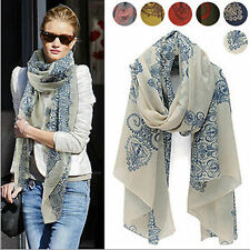 Women Hit Casual Chic Voile Soft Gothic Art Deco Print Wrap Pashmina Shawl Scarf