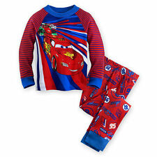 NWT Disney Store Cars Lightning McQueen Francesco  PJ Pals Sleep Set Pajama NEW