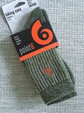 Point6 Hiking Core Medium Cushion Crew Wool Socks - Olive Green- New in Package!